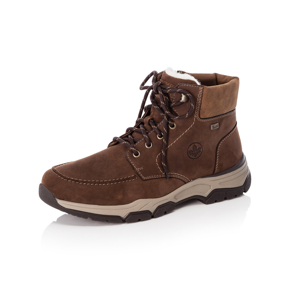 Rieker Mens 31240-22 Brown zip/lace Tex walking boot   Size - 42 only    Price - £85 NOW £65