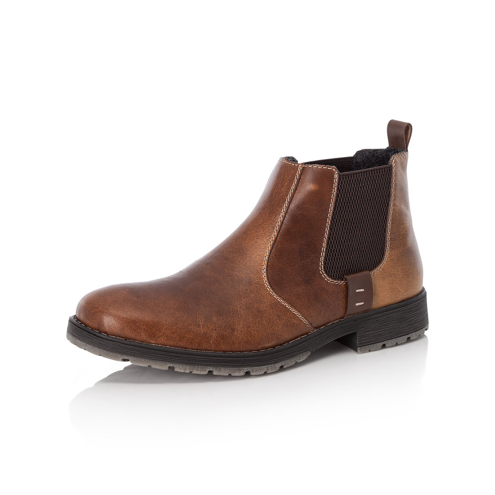 Rieker Mens 33353-25 Brown slip-on boot   Sizes - 41 and 46 only.   Price - £69 NOW £49