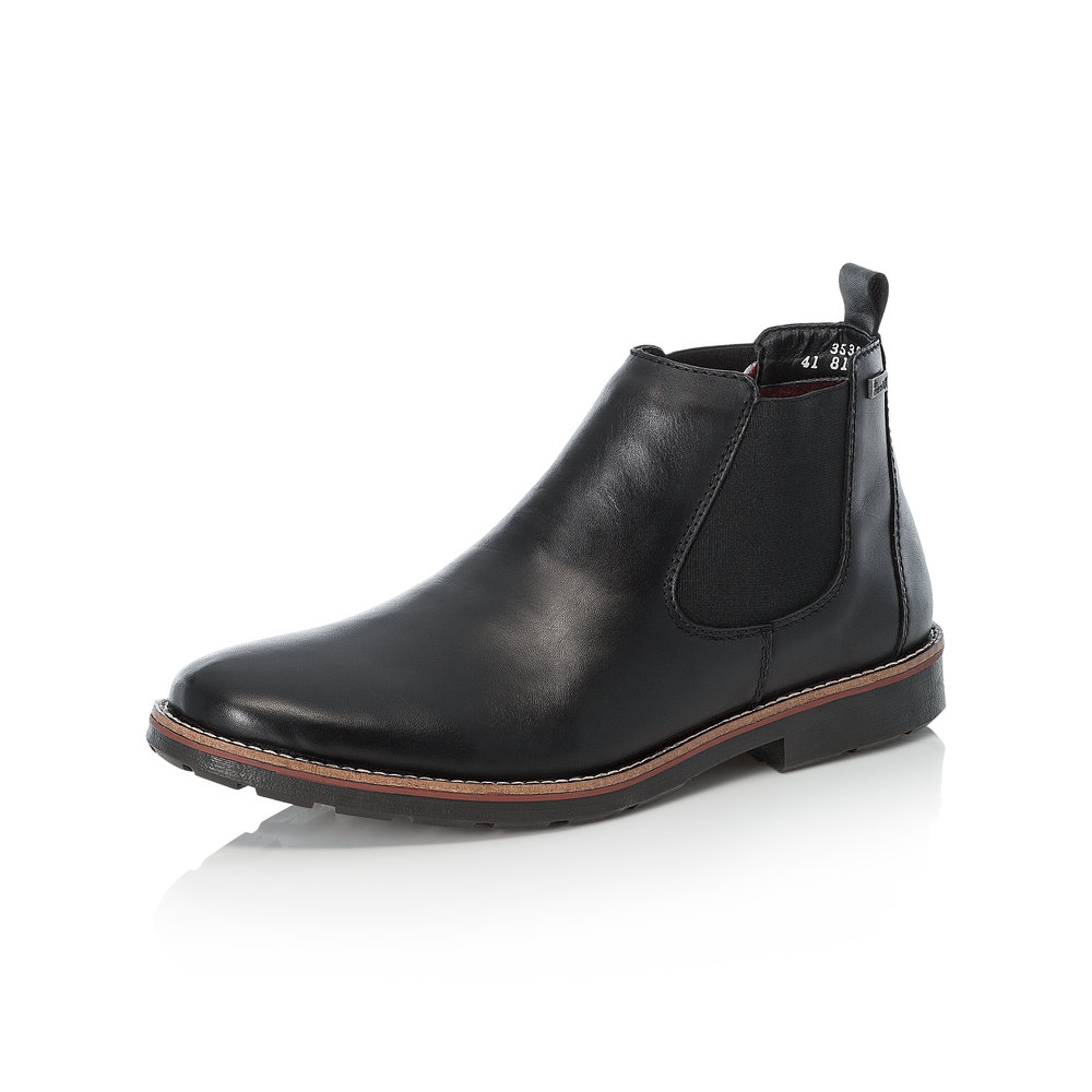 Rieker Mens 35382-00 Black slip-on boot  Sizes - 41 and 44 only.    Price - £77 NOW £55