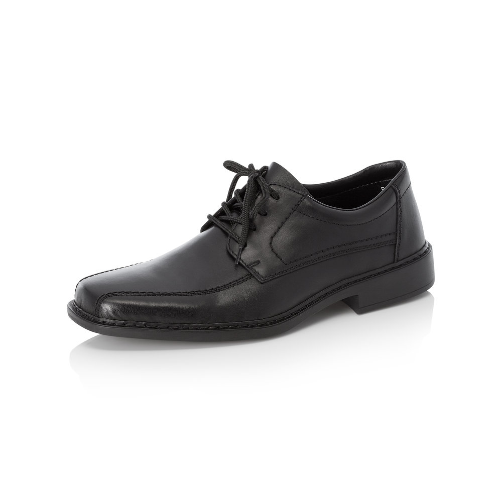 Rieker Mens B0812-01 Black lace shoe   Sizes - 42 to 46   Price - £65