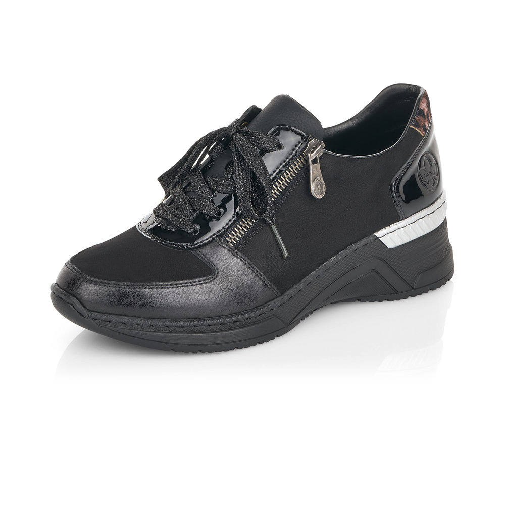 Rieker N4311-00 Black lace/zip shoe   Sizes - 38 to 41   Price - £65 NOW £45