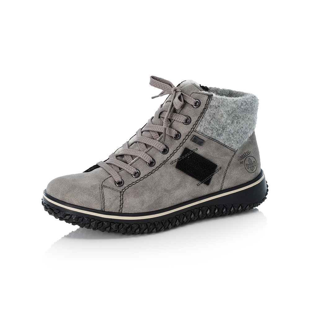 Rieker Z4230-40 Grey Tex zip/lace boot   Sizes - 37 and 40.   Price - £62 NOW £49
