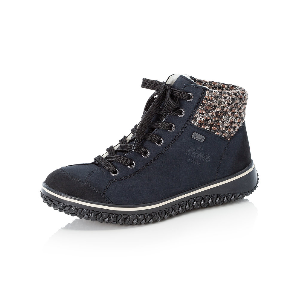 Rieker Z4243-14 Navy Tex zip/lace boot   Size - 38 only.   Price - £65 NOW £49
