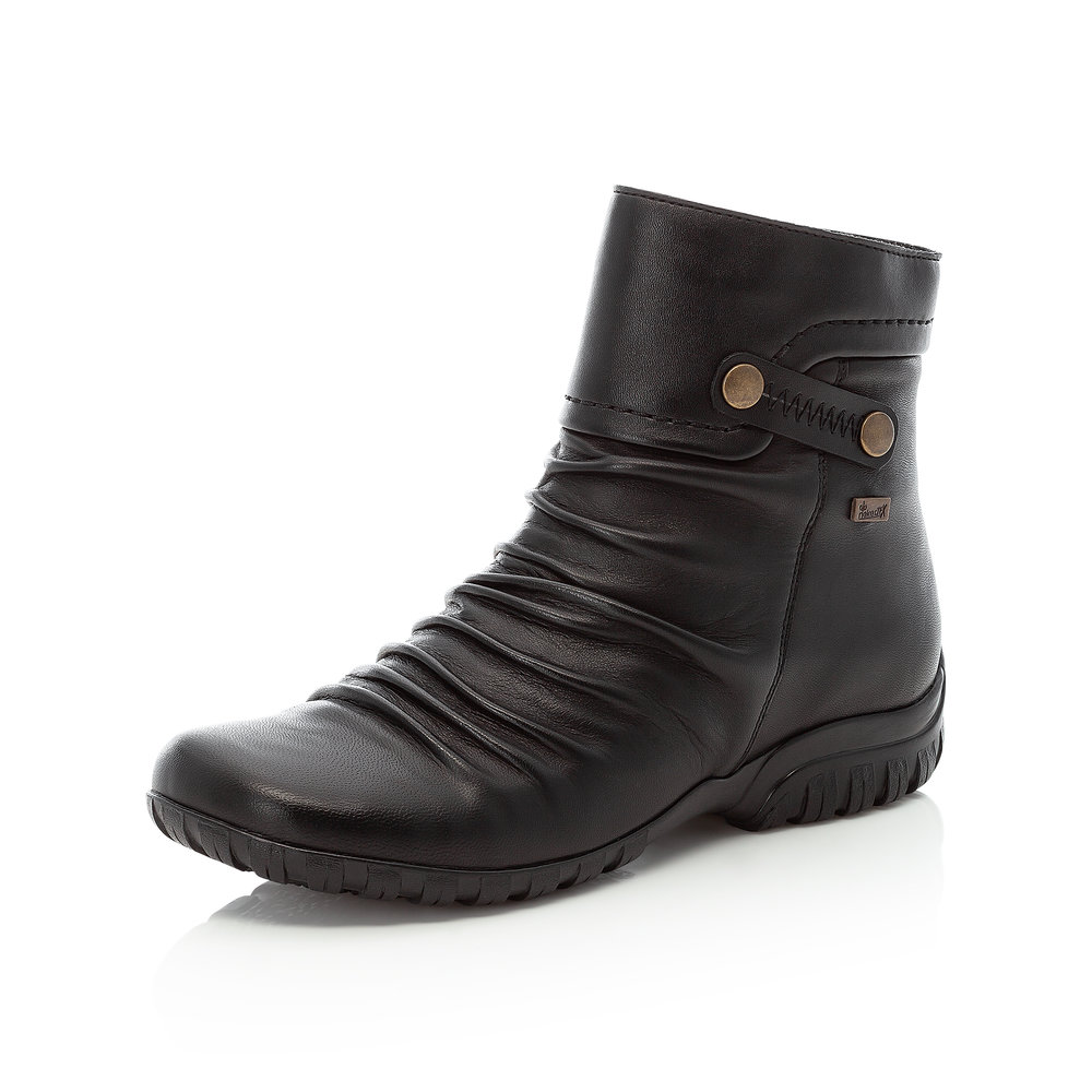 Rieker Z4652-00 Black Tex zip boot   Size - 37 only    Price - £75 NOW £55