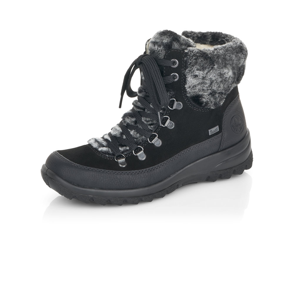 Rieker Z7132-01 Black Tex zip/lace boot   Sizes -  40 and 42.   Price - £75 NOW £55