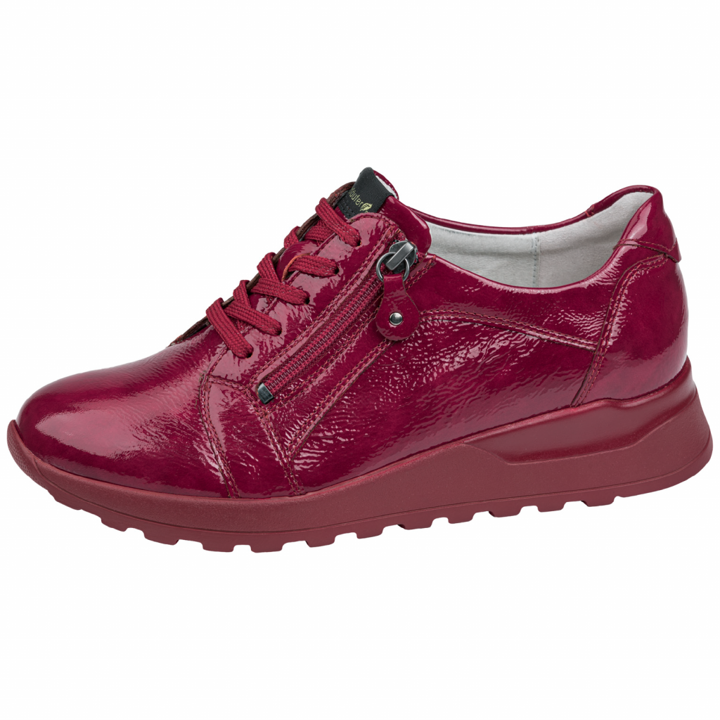 Waldläufer 364023 Red patent zip/ Lace Shoe   Sizes - 5.5 to 7   Price - £75