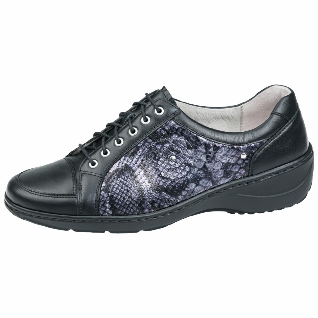 Waldläufer 607012 Black K Fit Lace Shoe   Sizes - 5 to 8   Price - £75