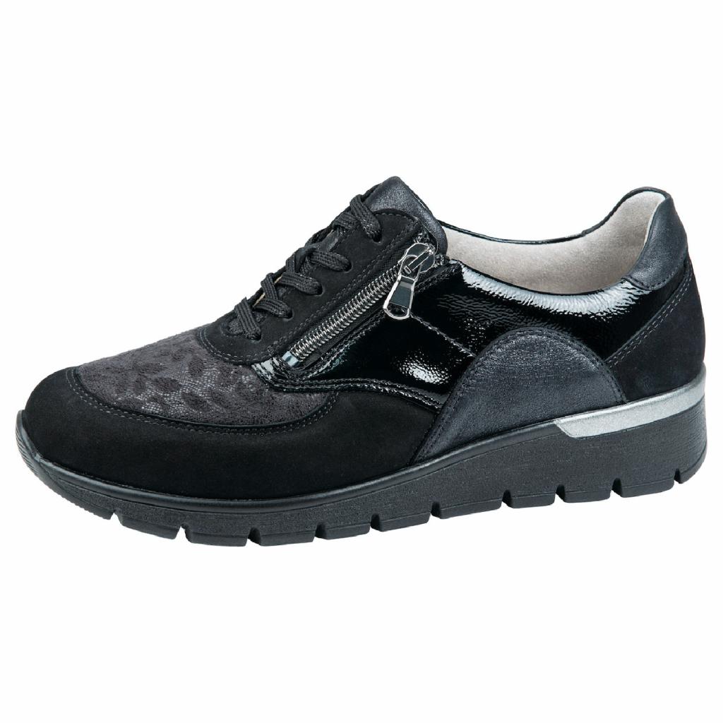 Waldläufer 626K02 Black K Fit zip/lace Shoe   Sizes - 4.5 to 7   Price - £79