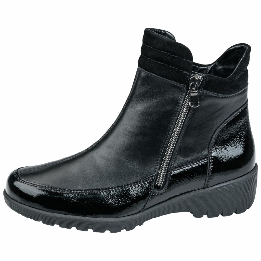 Waldläufer 675803 Black twin zip Boot   Sizes - 5.5 to 7   Price - £99 NOW £59