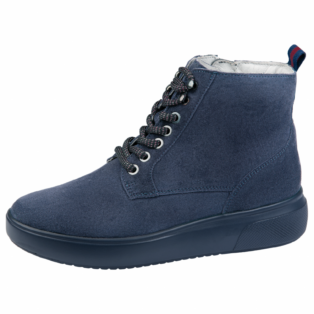 Waldläufer 763701 Blue suede lace Boot   Sizes - 5, 6, 6.5 and 8.   Price - £75 NOW £55