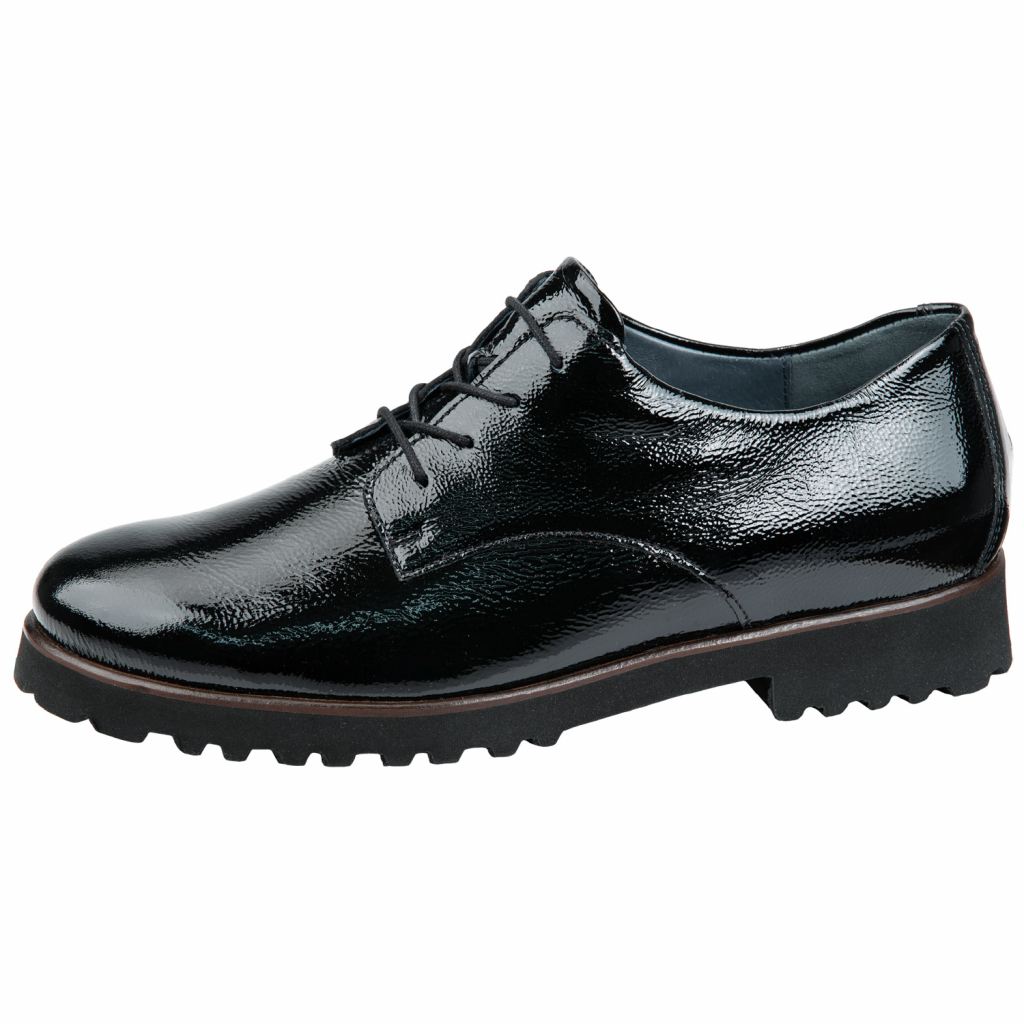 Waldläufer 772001 Black patent lace Shoe   Sizes - 5 to 8   Price - £75