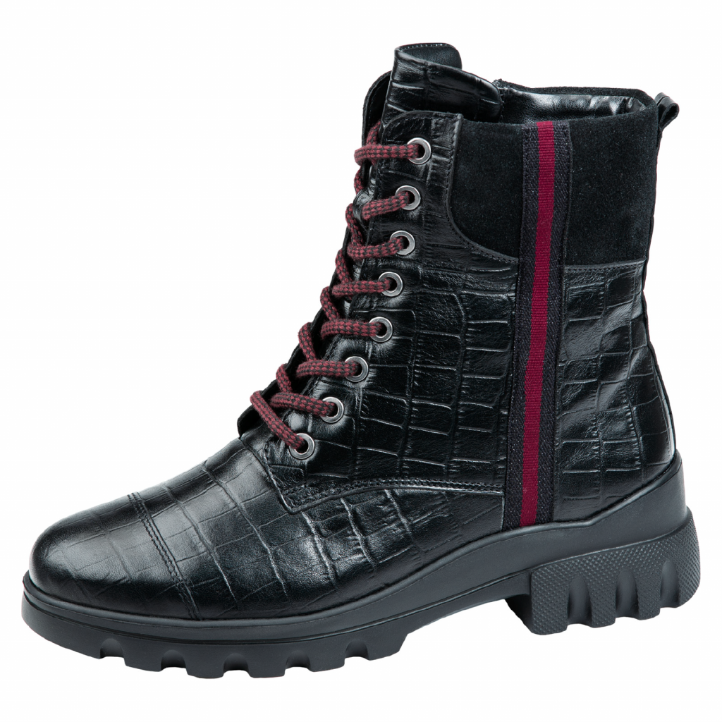 Waldläufer 780806 Black zip/lace Boot   Sizes - 4.5 to 6.5   Price - £95 NOW £59