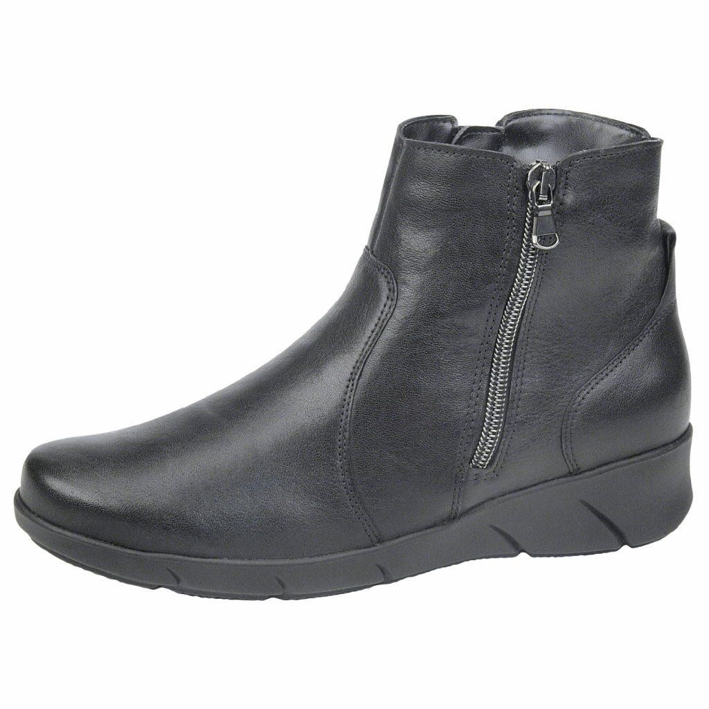Waldläufer 905806 Black leather twin zip Boot   Sizes - 6.5 and 7.    Price - £95 NOW £69