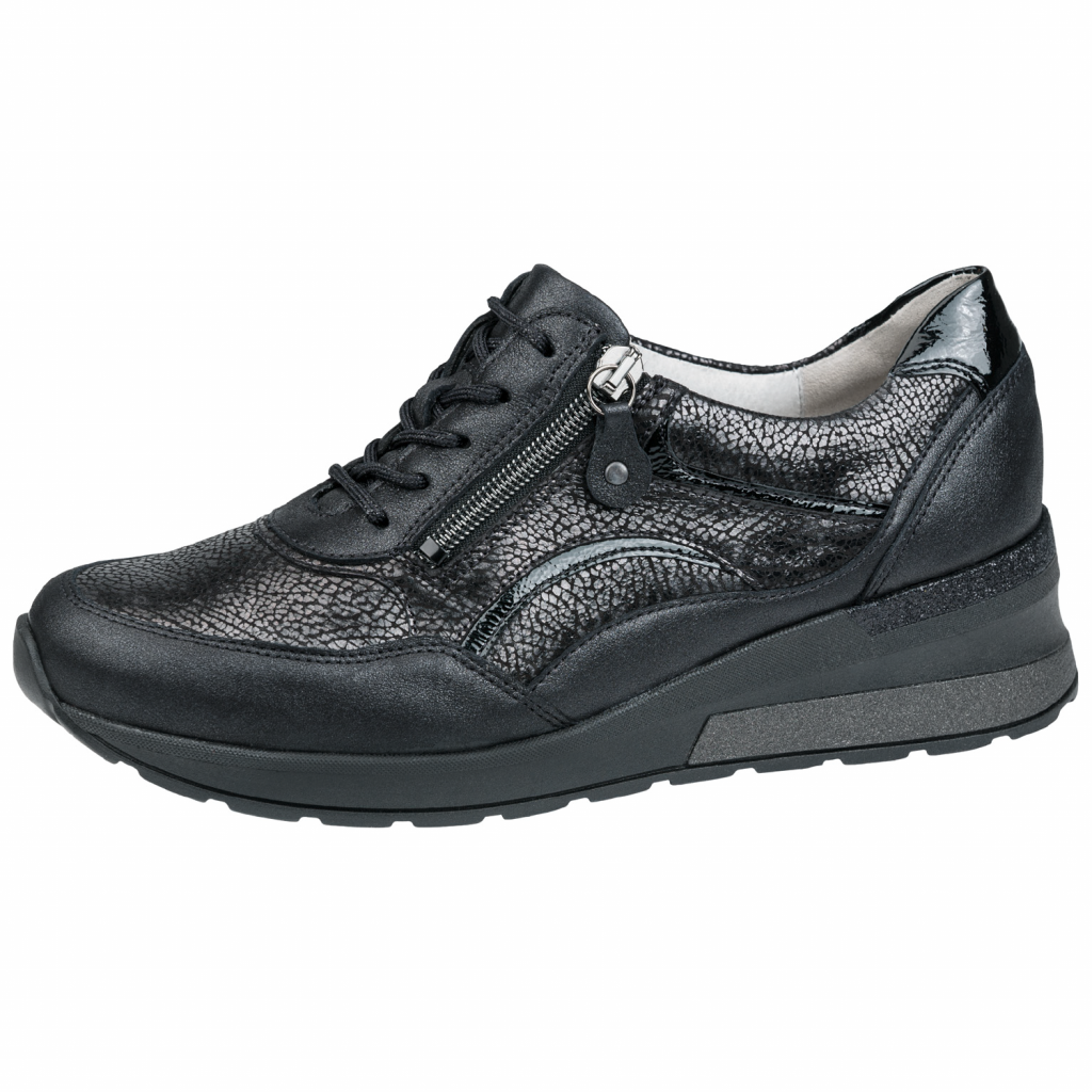 Waldläufer 939011 Black Zip/ lace Shoe   Sizes - 5.5, 6 and 7.    Price - £75