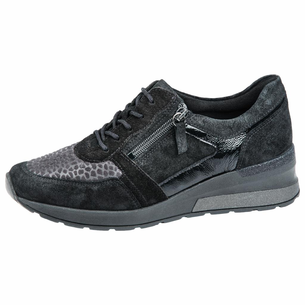 Waldläufer 939H01 Black zip/lace Shoe   Sizes - 4 to 7   Price - £75
