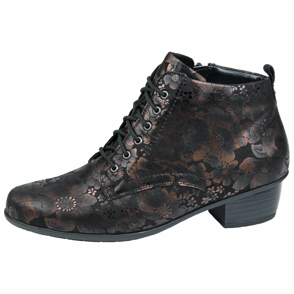 Waldläufer 967809 Brown zip/lace Boot   Sizes - 4.5 to 7   Price - £95 NOW £69