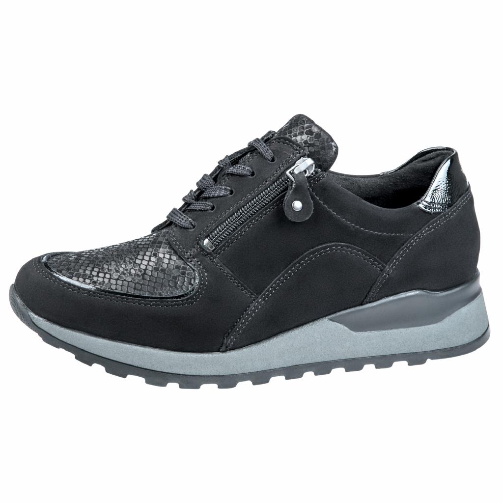 Waldläufer H64007 Black zip/lace Shoe   Sizes - 5 to 8   Price - £75