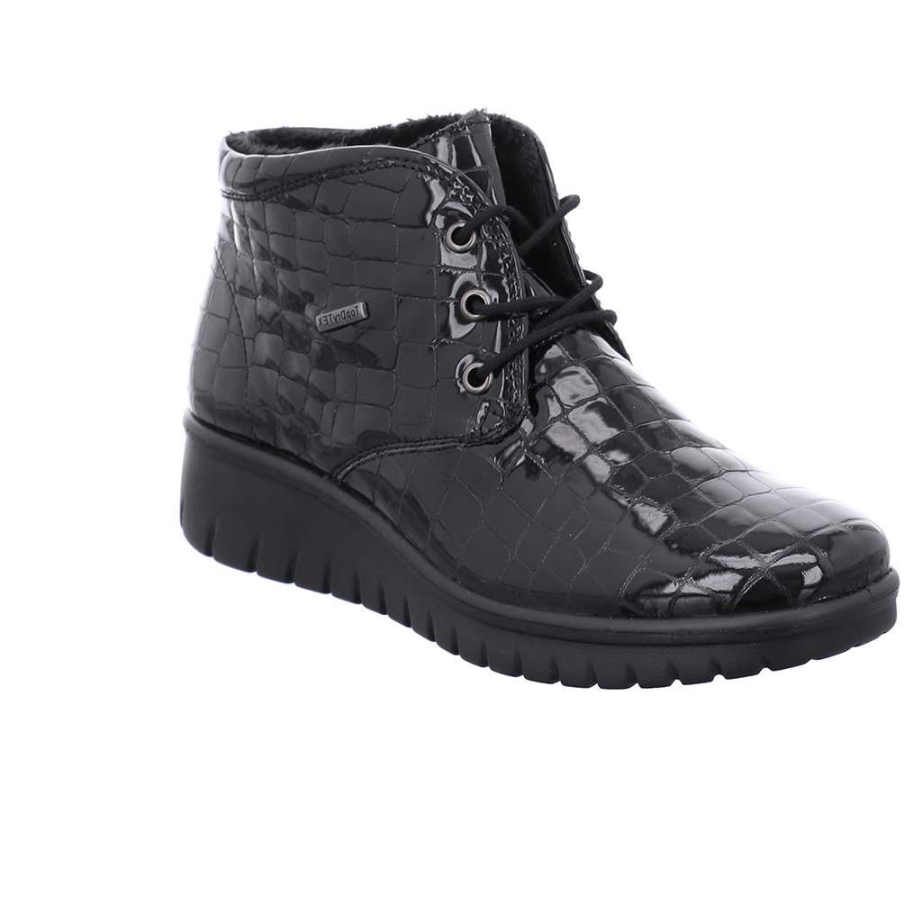 Westland Calais 13 Black patent croc Tex Lace Boot Sizes - 38, 40 and 41  Price - £89 NOW £59