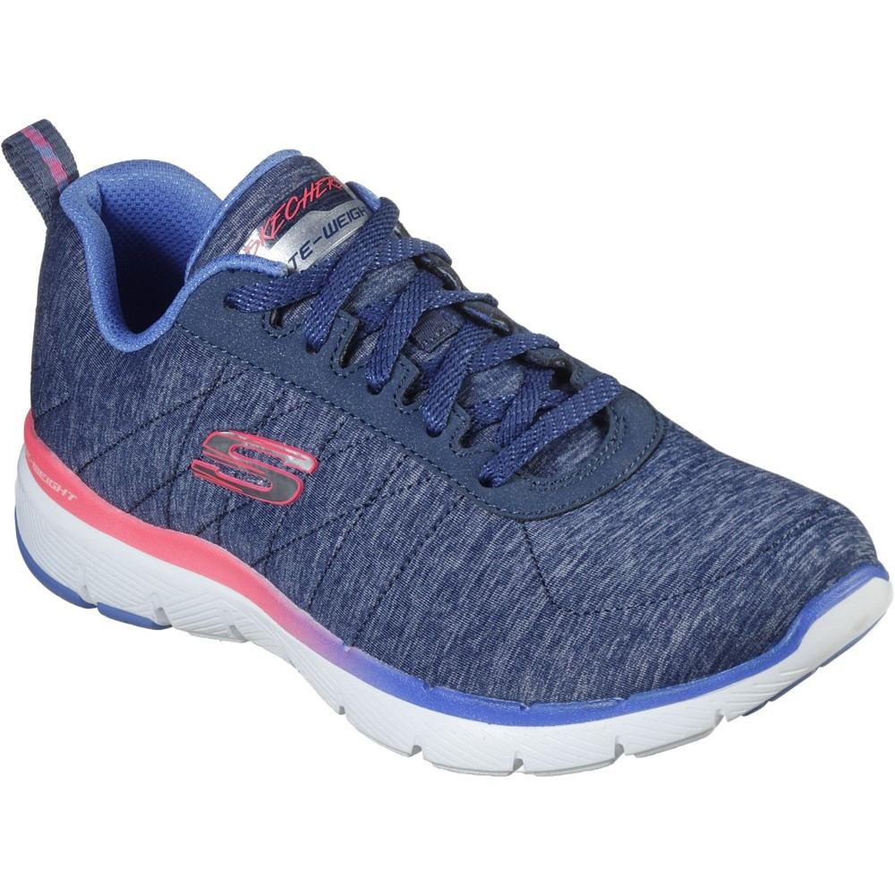 Skechers 149008 Flex Lite Blue lace.   Size - 7 only.   Price - £59 Now £47