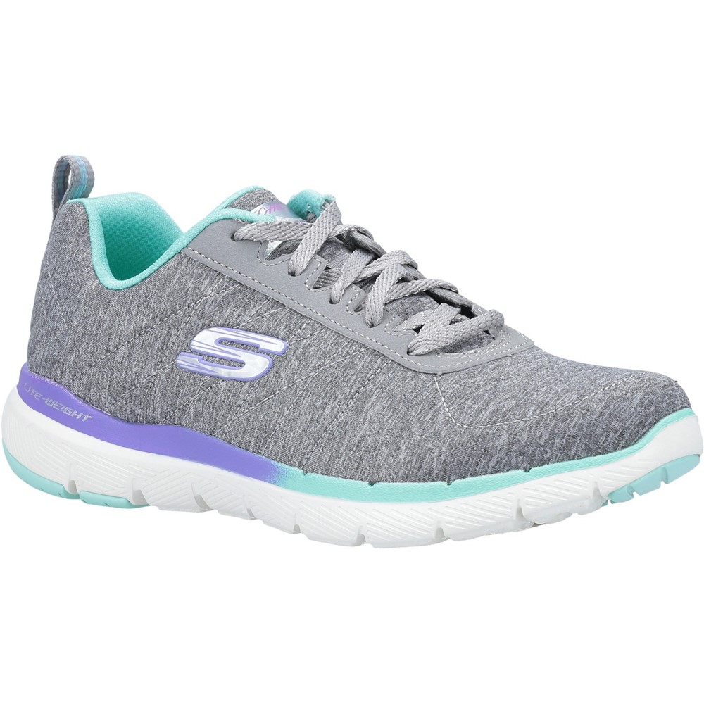 Skechers 149008 Flex Lite Grey lace.  Size - 7 only.   Price - £59 Now £47