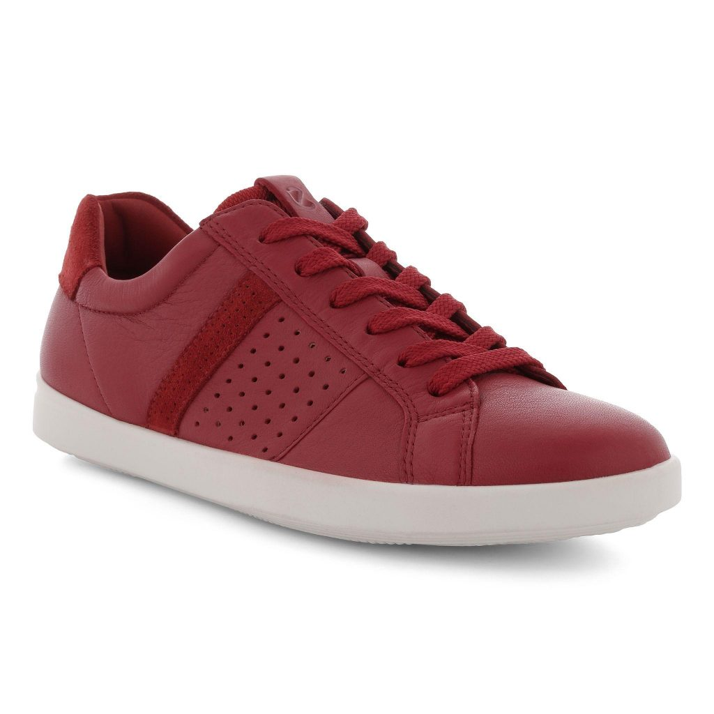 Ecco 205093 Leisure Chilli red lace shoe Sizes - 36 to 41 Price - £90