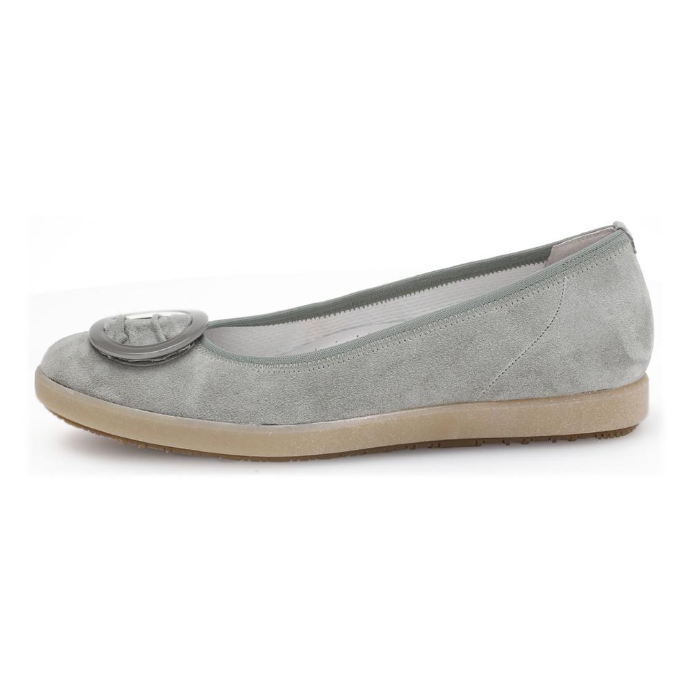Gabor 42.452.40 Paula pale grey nubuck ring pump Sizes - 4 to 7 Price - £85