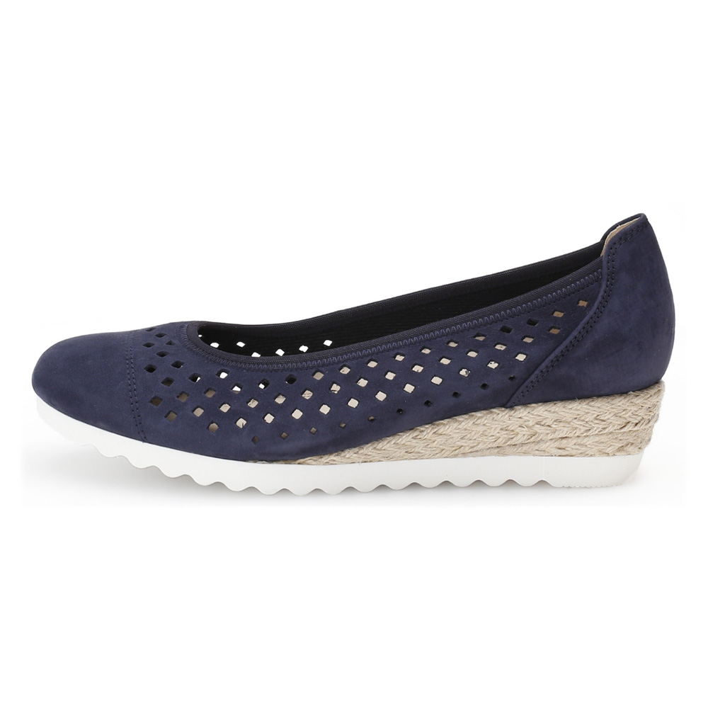 Gabor 42.642.36 Evelyn Blue punched wedge Sizes - 4 to 7 Price - £85