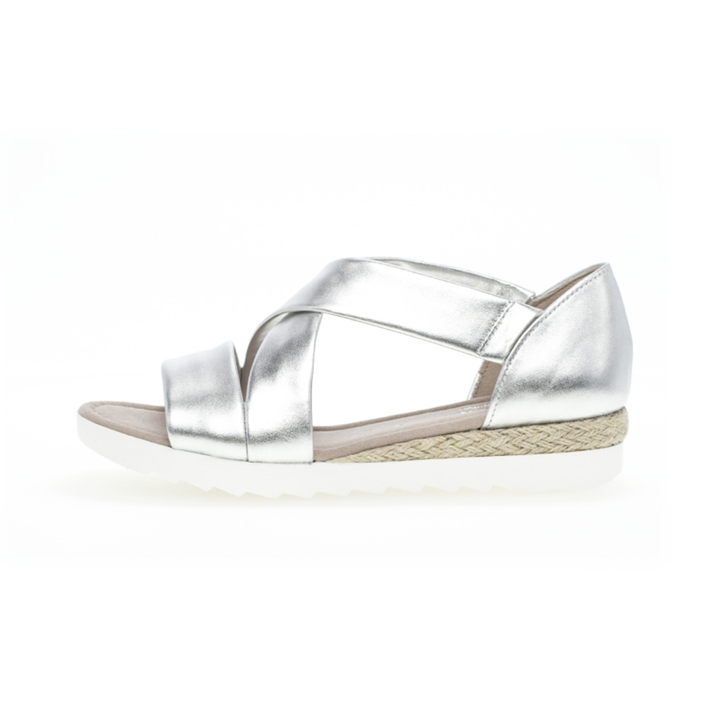 Gabor 42.711.10 Promise Silver cross strap sandal Sizes - 4 to 7 Price - £85