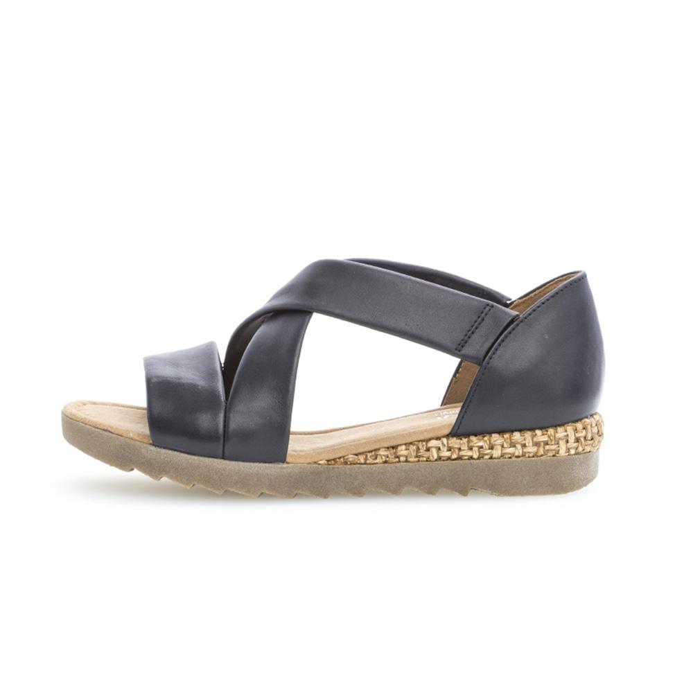 Gabor 42.711.85 Promise Midnight cross strap sandal Sizes - 4 to 7 Price - £85