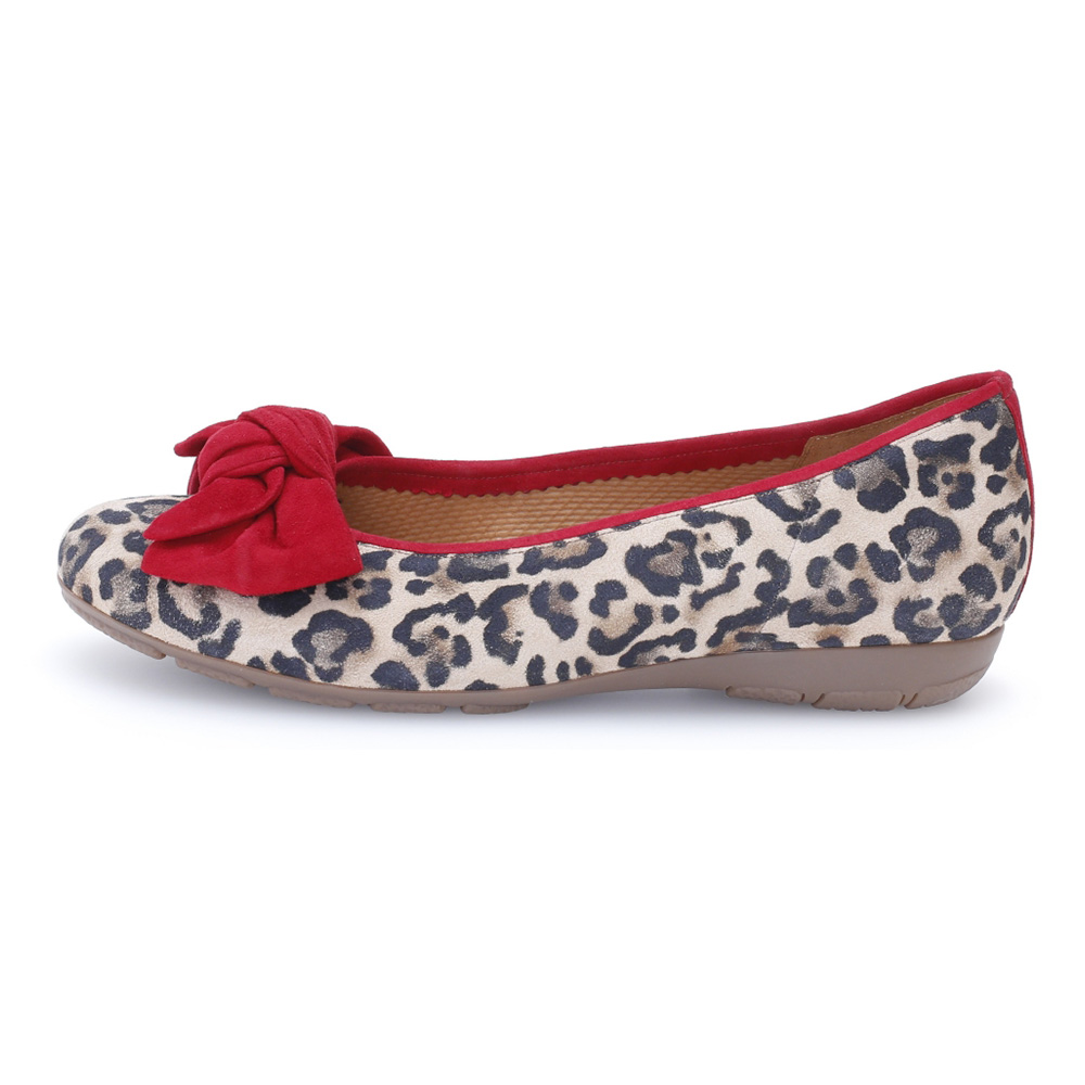 Gabor 44.163.35 Redshank red natural print bow pump Sizes - 4 to 7 Price - £95