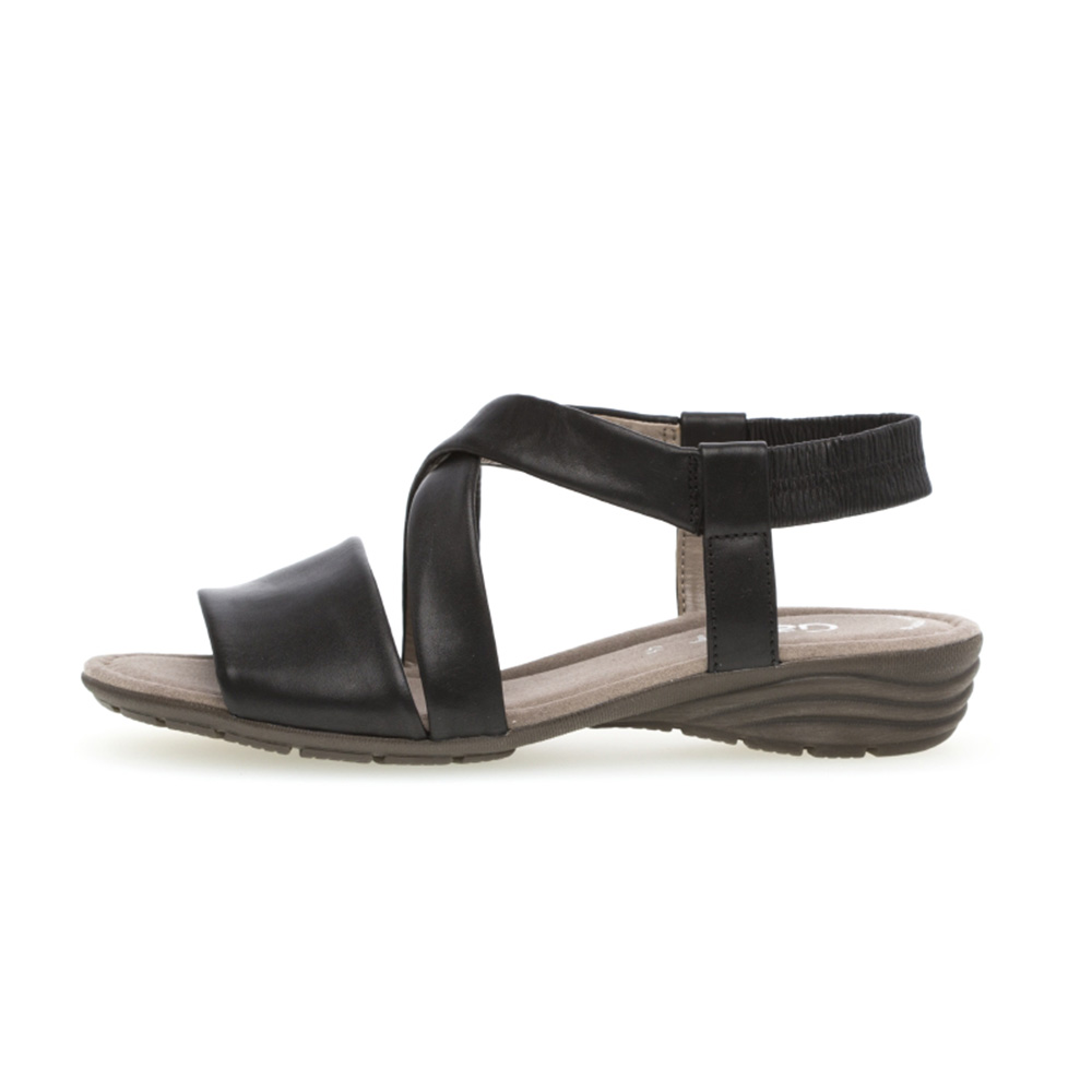 Gabor 44.550.27 Ensign Black soft leather sandal Sizes - 4 to 7 Price - £75