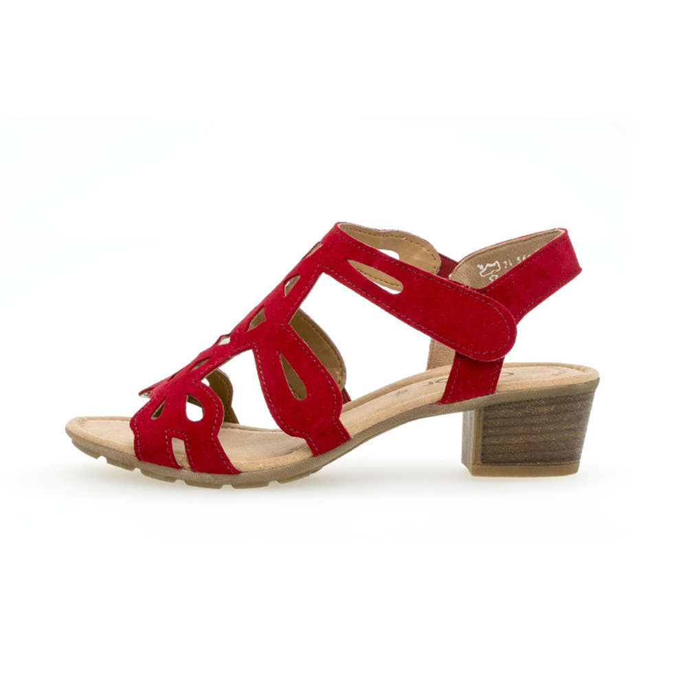 Gabor 44.561.15 Holycron Red suede sandal Sizes - 4 to 7 Price - £75