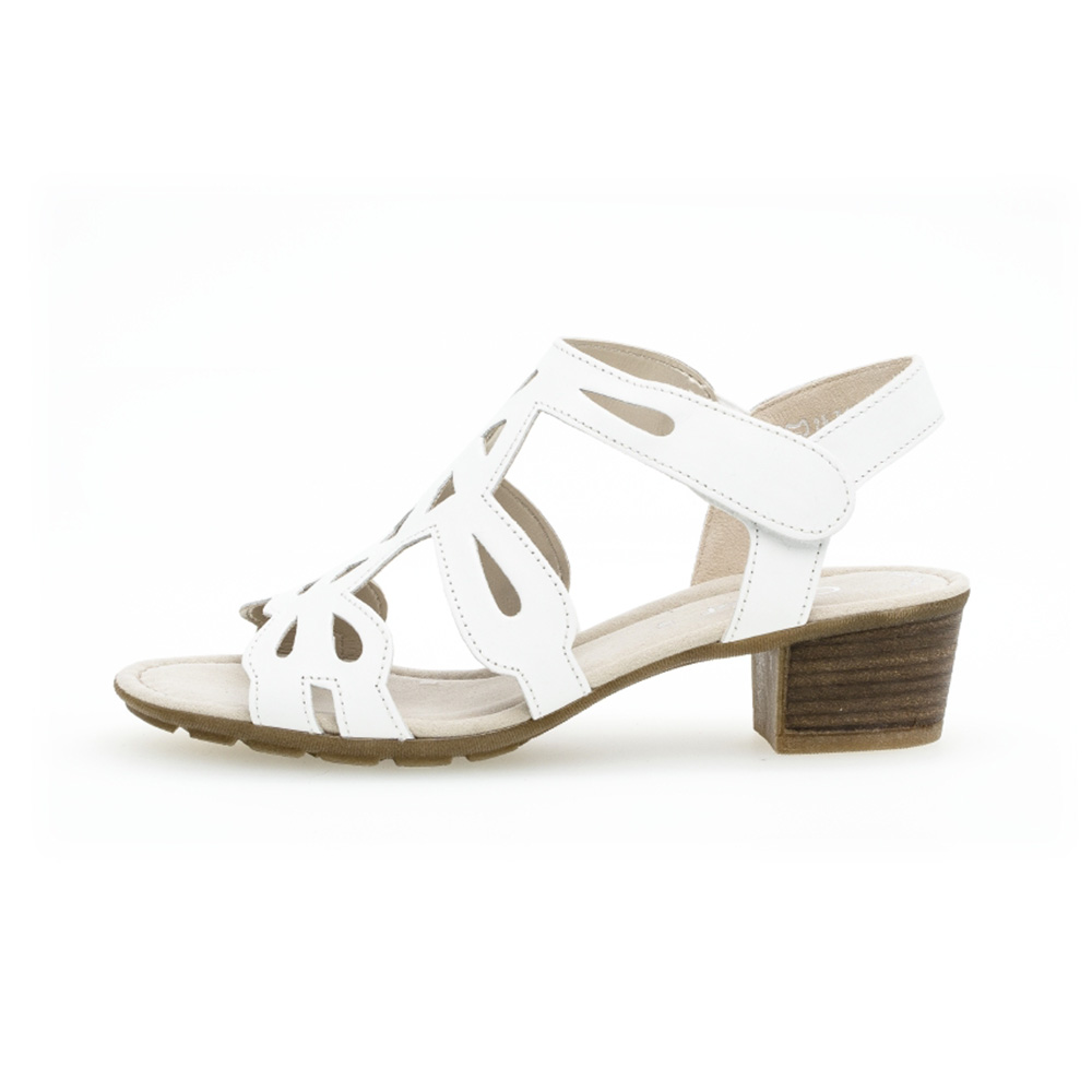Gabor 44.561.21 Holycron White leather sandal Sizes - 4 to 7 Price - £75