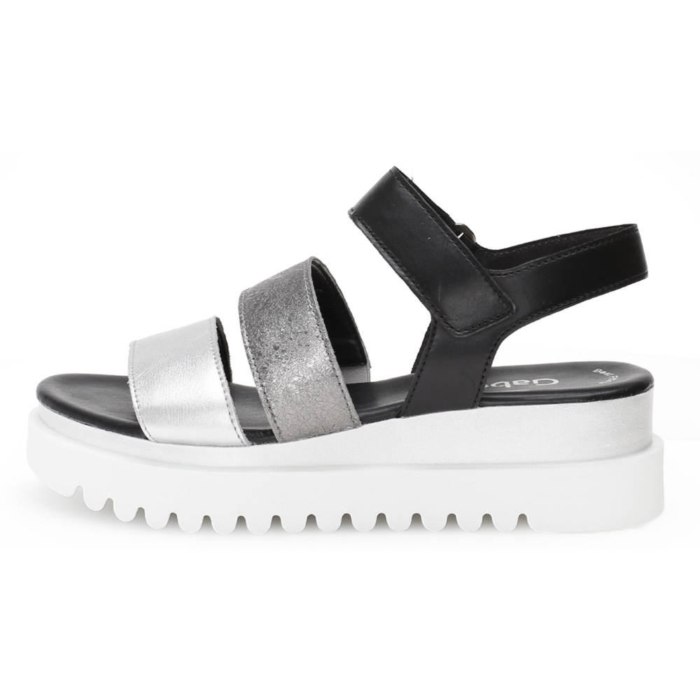 Gabor 44.610.61 Billie Blasck silver multi strap sandal Sizes - 4 to 7 Price - £85