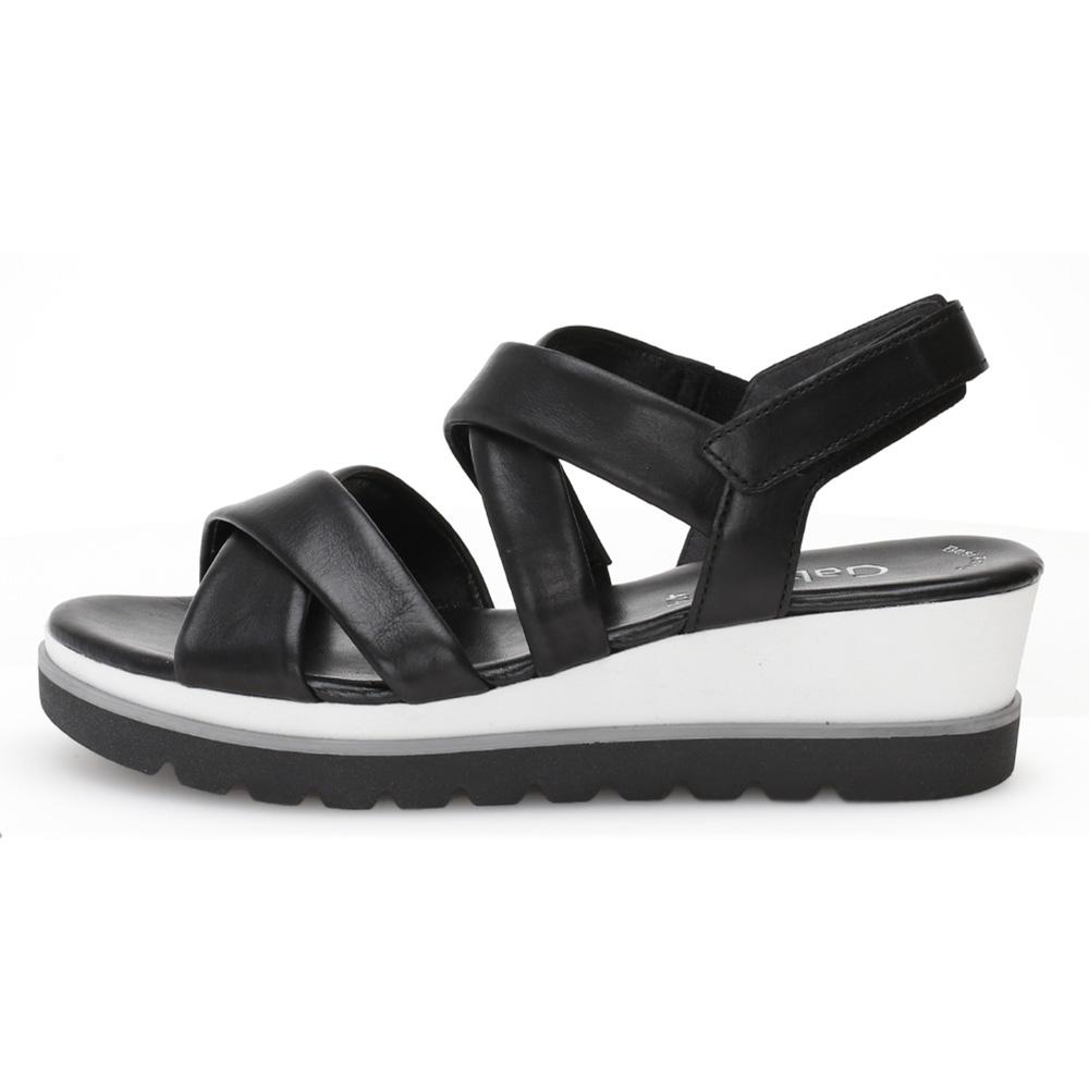 Gabor 44.644.27 Yvanna Black white wedge sandal Sizes - 4 to 7 Price - £85