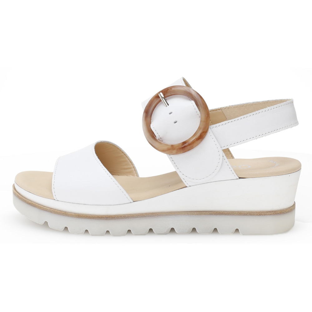 Gabor 44.645.21 Yeo White leather ring wedge sandal Sizes - 4 to 7 Price - £85