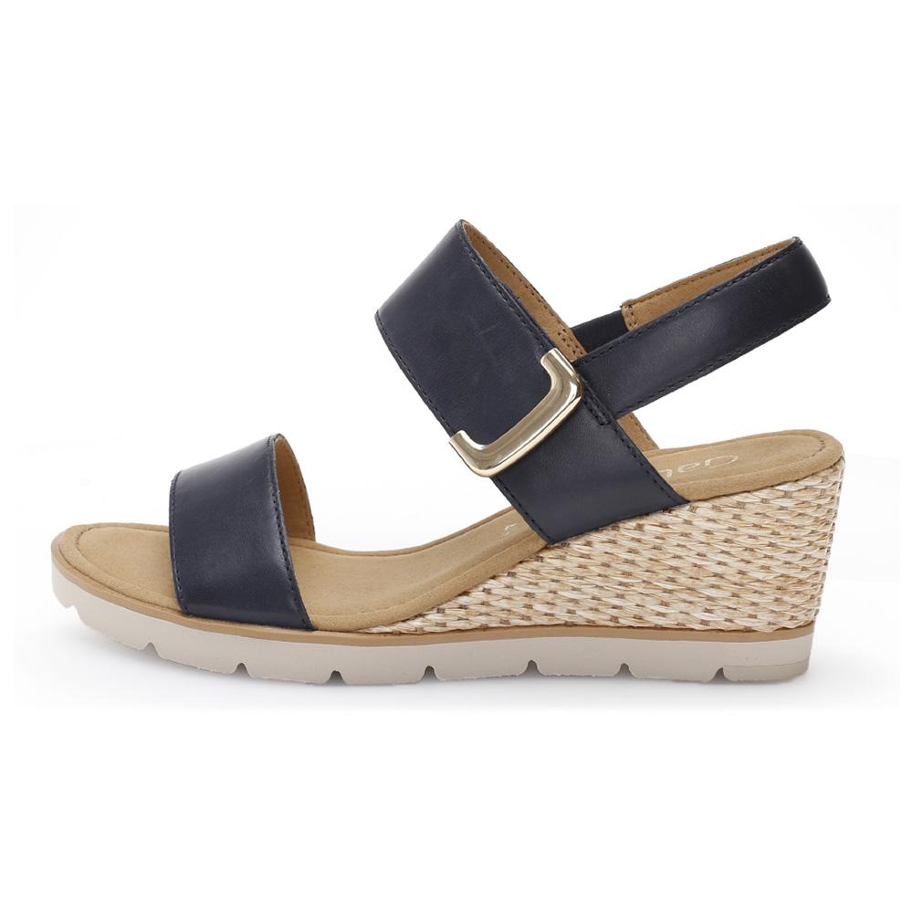 Gabor 45.751.26 Porter Navy leather wedge sandal Sizes - 4 to 7 Price - £89