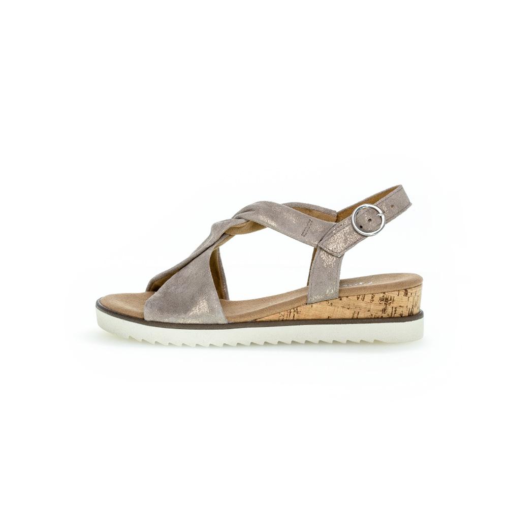 Gabor 62.751.95 Rich metallic sandal Sizes - 4.5 to 7 Price - £85