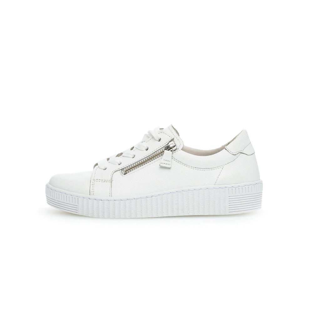 Gabor 63.334.21 Wisdom white zip lace shoe Sizes - 4.5 to 7 Price - £89