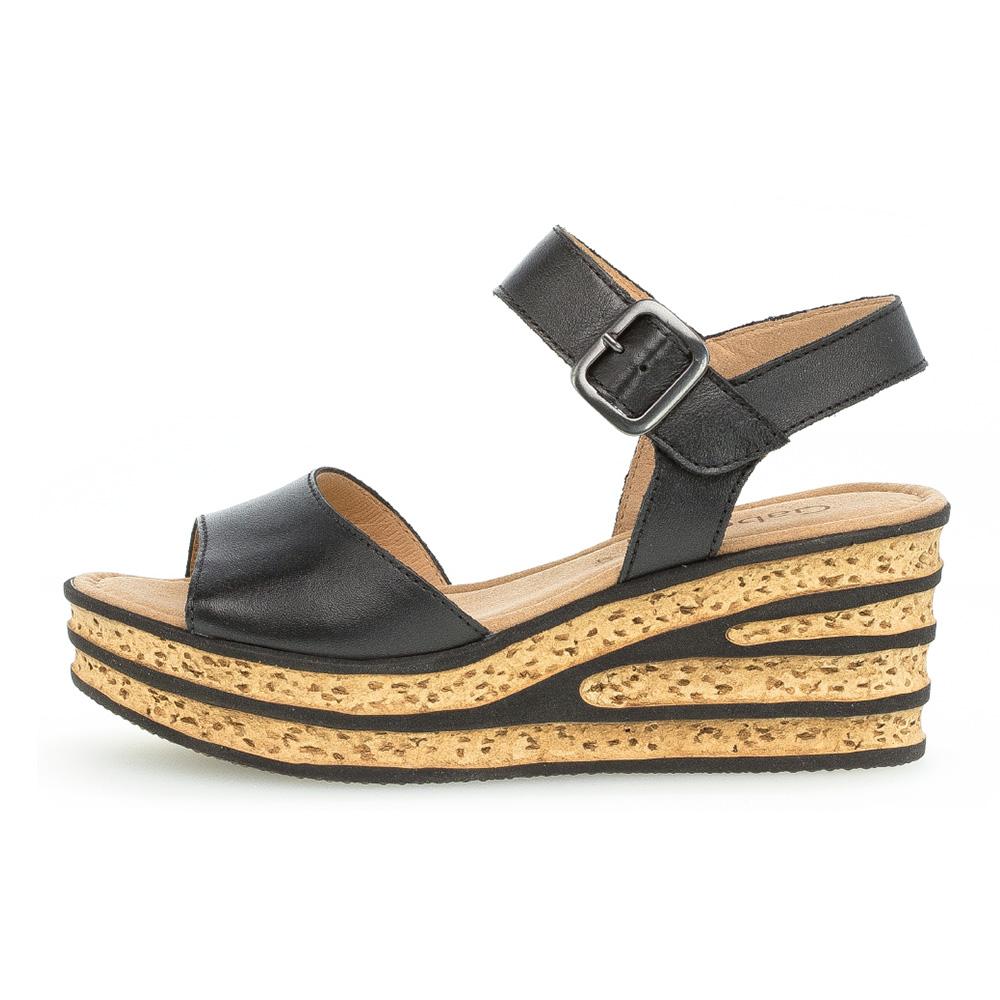 Gabor 64.651.27 Twirl black wedge sandal Sizes - 4 to 6.5 Price - £75