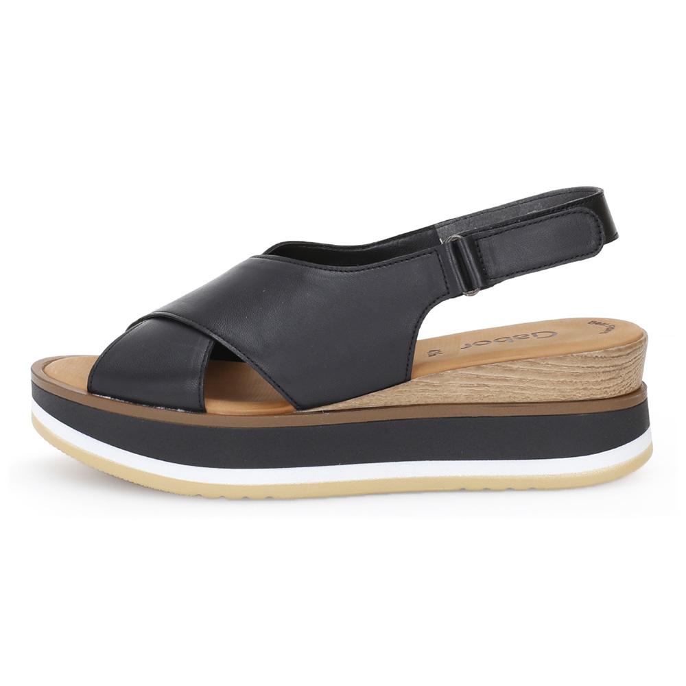 Gabor 64.683.27 Cobbles black sandal Sizes - 4 to 7 Price - £95