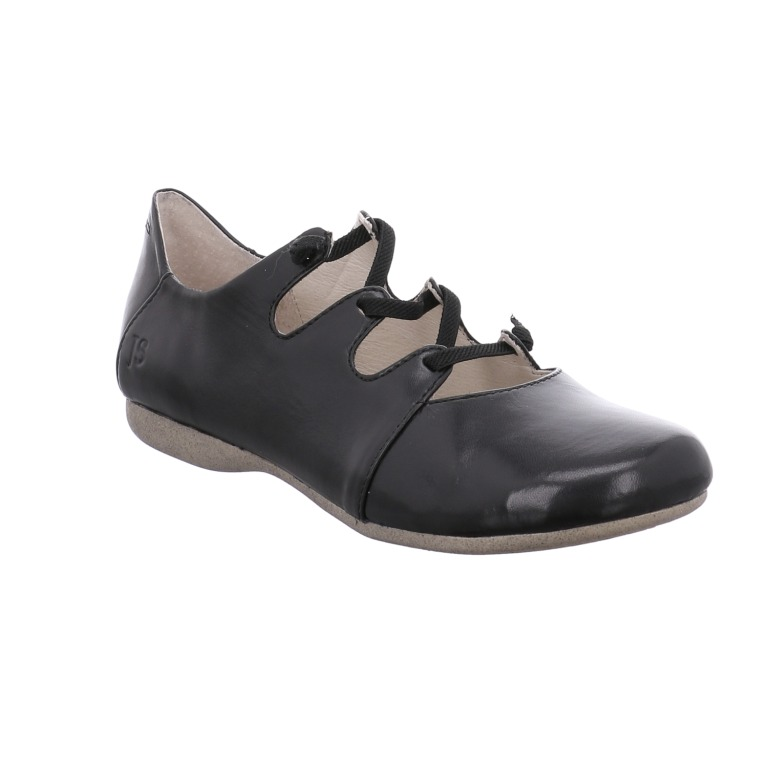 Josef Seibel Fiona 04 black elastic lace shoe  Sizes - 37 to 42  Price - £79