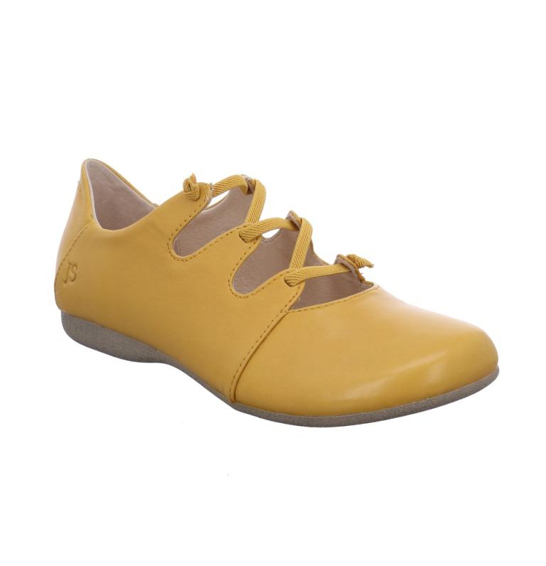 Josef Seibel Fiona 04 yellow elastic lace shoe   Sizes - 37 to 40   Price - £79