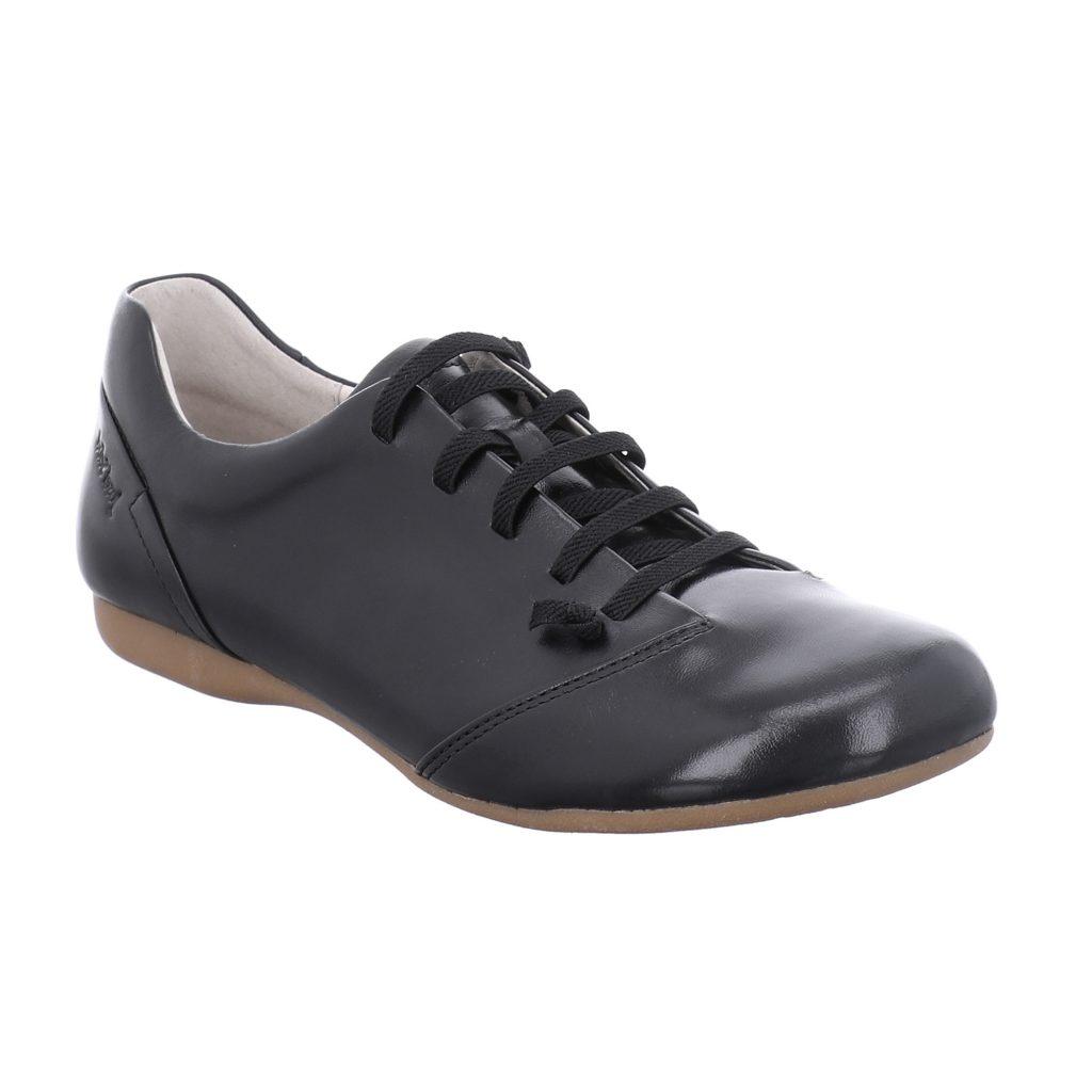 Josef Seibel Fiona 08 Black elastic lace shoe Sizes - 37 to 42 Price - £79