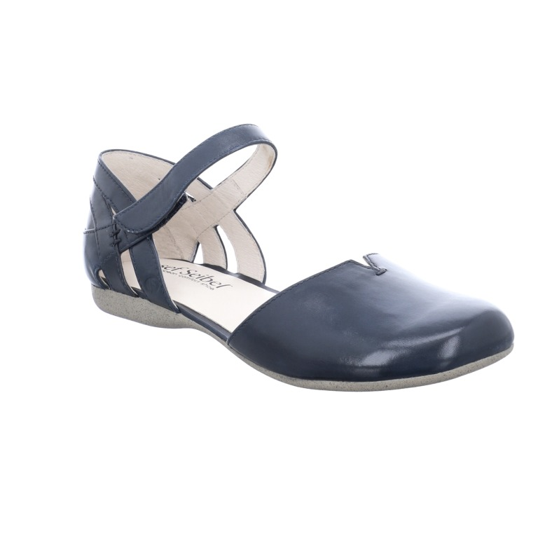 Josef Seibel Fiona 67 navy ankle strap sandal  Sizes - 37 and 38 only.   Price - £79 Now £59