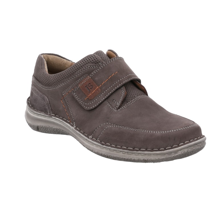 Josef Seibel Mens Anvers 83 grey nubuck strap shoe  Sizes - 41 to 46  Price - £85