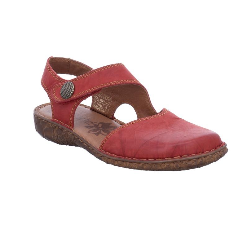 Josef Seibel Rosalie 27 red full toe sandal  Sizes - 37 to 42  Price - £75