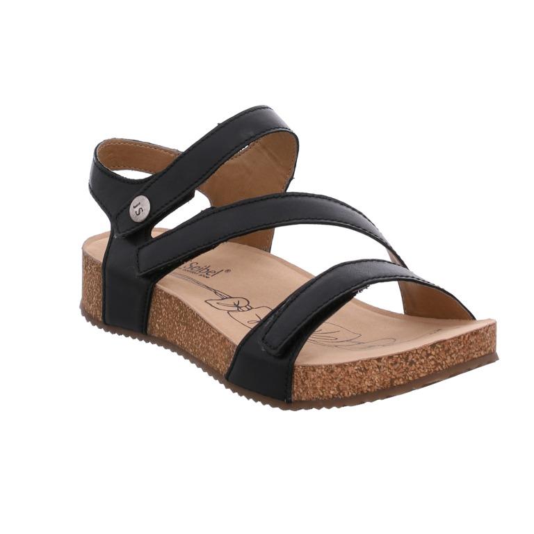 Josef Seibel Tonga 25 black 3 strap sandal  Sizes - 37 to 42   Price - £75