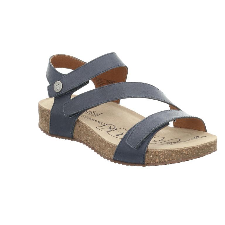 Josef Seibel Tonga 25 jeans blue 3 strap sandal   Sizes - 37 to 42   Price - £75