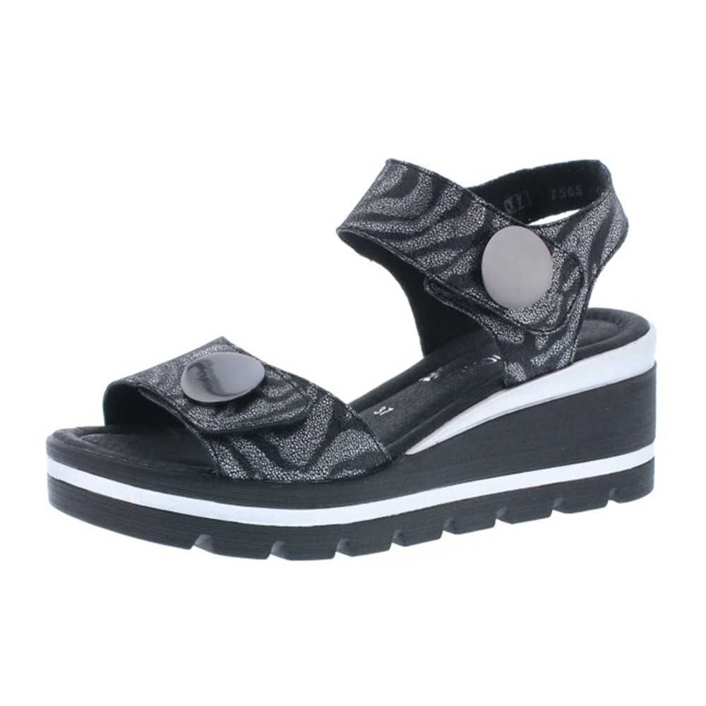 Remonte D1565-02 black stripe twin strap sandal Sizes - 38 to 41 Price - £ 65.00